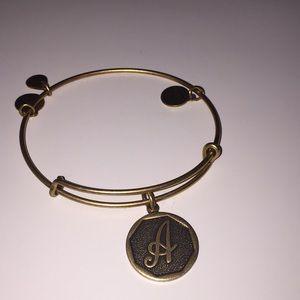 """Alex and Ani Gold """"A"""" bracelet"""